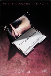 "American Psycho (Lions Gate, 2000). Rolled, Very Fine. One Sheets (2) (27"" X 39"" & 27"" X 40""..."