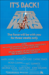 "Star Wars (20th Century Fox, R-1977). Folded, Very Fine+. One Sheet (27"" X 41""). Science Fiction"