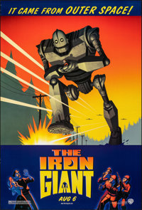 """The Iron Giant (Warner Bros., 1999). Rolled, Very Fine+. One Sheet (27"""" X 40"""") DS, Advance. Animation"""
