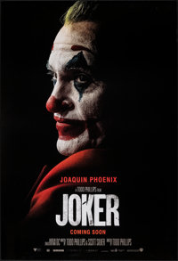 "Joker (Warner Bros., 2019). Rolled, Very Fine+. Recalled One Sheet (27"" X 39.75"") DS, Teaser. Crime"