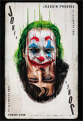 """Movie Posters:Crime, Joker (Warner Bros., 2019). Rolled, Very Fine+. Recalled One Sheet (27"""" X 40"""") DS, Teaser Style. Crime.. ..."""