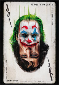 "Joker (Warner Bros., 2019). Rolled, Very Fine+. Recalled One Sheet (27"" X 40"") DS, Teaser. Crime"