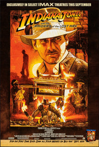 """Raiders of the Lost Ark (Paramount, R-2012). Rolled, Very Fine+. IMAX One Sheet (27"""" X 40"""") DS. M. Raats Artwo..."""