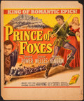 "Movie Posters:Adventure, Prince of Foxes & Other Lot (20th Century Fox, 1949). Overall: Fine+. Trimmed Window Card (14"" X 17"") & Half Sheet (22"" X 28... (Total: 2 Items)"