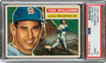 Baseball Cards:Singles (1950-1959), 1956 Topps Ted Williams (Gray Back) #5 PSA Mint 9 - Pop Three, None Higher....