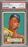 Baseball Cards:Singles (1950-1959), 1952 Topps Mickey Mantle #311 PSA NM-MT 8....