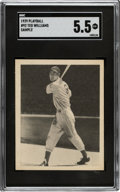 Baseball Cards:Singles (1940-1949), 1939 Play Ball Ted Williams (Sample) #92 SGC EX+ 5.5....