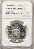 2000-W $100 One-Ounce Platinum Eagle, Statue of Liberty PR70 Ultra Cameo NGC. NGC Census: (671). PCGS Population: (260)...