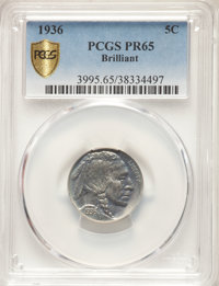 1936 5C Type Two -- Brilliant Finish PR65 PCGS. PCGS Population: (287/509 and 1/69+). NGC Census: (138/308 and 0/5+). PR...