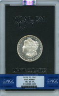 1878-CC $1 GSA MS64 Prooflike NGC. NGC Census: (74/8). PCGS Population: (10/2). MS64. Mintage 2,212,000....(PCGS# 518846...