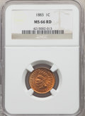 1883 1C MS66 Red NGC. NGC Census: (19/3). PCGS Population: (31/4). CDN: $2,750 Whsle. Bid for NGC/PCGS MS66. Mintage 45...