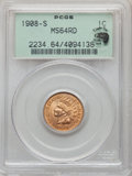 Indian Cents, 1908-S 1C MS64 Red PCGS. Eagle Eye Photo Seal. PCGS Population: (210/305). NGC Census: (92/115). CDN: $1,100 Whsle. Bid for...