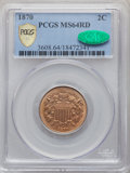 1870 2C MS64 Red PCGS. CAC. PCGS Population: (18/19 and 2/0+). NGC Census: (10/9 and 0/0+). CDN: $1,400 Whsle. Bid for N...