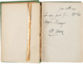"Baseball Collectibles:Others, 1901 Adrian ""Cap"" Anson Signed Book...."