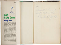 "1960 Bobby Jones Signed ""Golf Is My Game"" Book"