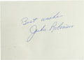 Baseball Collectibles:Others, Circa 1960's Jackie Robinson Signed Cut Signature....
