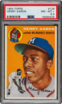 1954 Topps Hank Aaron #128 Rookie PSA NM-MT+ 8.5