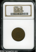 Two Cent Pieces: , 1865 2C XF40 Brown NGC. ...