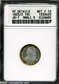 Bust Dimes: , 1823/2 10C Small Es Fine12--Cleaned--ANACS, VF Details, JR-1....