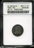 "Bust Dimes: , 1827 10C Fine12--Scratched--ANACS, VF Details JR-12. The currentCoin Dealer Newsletter (Greysheet) wholesale ""bid"" price is ..."