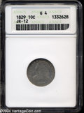 Bust Dimes: , 1829 10C Small 10C Good4 ANACS JR-12....