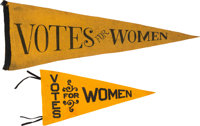Woman's Suffrage: Pair Votes Pennants