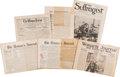 Political:Small Paper (1896-present), Woman's Suffrage: Suffragette News Papers....