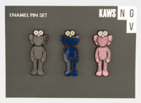 KAWS X NGV BFF Companion, set of three pins, 2019 Enamel pins 2 x 0-3/4 inches (5.1 x 1.9 cm) (each) Produced by NGV
