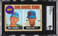 Baseball Cards:Singles (1960-1969), 1968 Topps Nolan Ryan - Mets Rookies #177 SGC Mint 9 - Only Two Higher. ...