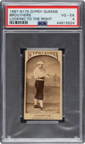 Baseball Cards:Singles (Pre-1930), Very Rare N175 Gypsy Queen Dan Brouthers (Detroit) PSA VG-EX 4 - Only Two Graded Examples - PSA & SGC Combined. ...