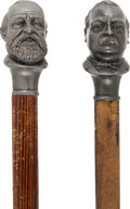 Political:3D & Other Display (pre-1896), Grover Cleveland and Benjamin Harrison: Pair of Figural Canes.... (Total: 2 Items)