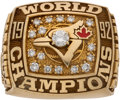 Baseball Collectibles:Others, 1992 Toronto Blue Jays World Series Championship Ring Presented to Scout....