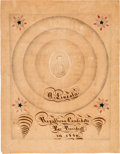 Political:3D & Other Display (pre-1896), Abraham Lincoln: Salt Print Folk Art Colored Calligraphy. ...