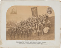 "Abraham Lincoln: Spectacular ""Mohawk Wide Awakes And Band"" Photograph"