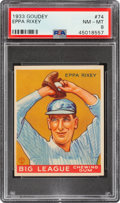 Baseball Cards:Singles (1930-1939), 1933 Goudey Eppa Rixey #74 PSA NM-MT 8 - None Higher! ...