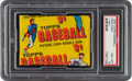 Baseball Cards:Unopened Packs/Display Boxes, 1956 Topps Baseball 1-Cent Unopened Wax Pack PSA NM-MT 8. ...
