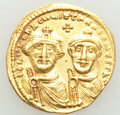 Ancients:Byzantine, Ancients: Heraclius (AD 610-641), and Heraclius Constantine. AV solidus (20mm, 4.45 gm, 7h). XF....