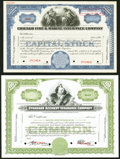 Miscellaneous:Other, Two Specimen Stock Certificates Choice Crisp Uncirculated. . ... (Total: 2 items)