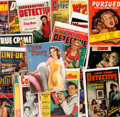 Magazines:Miscellaneous, Miscellaneous Vintage Detective Magazines Group of 22 (Various Publishers, 1940s-60s).... (Total: 22 Comic Books)