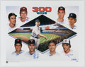 Autographs:Photos, 300 Win Club Multi-Signed Lithograph (8 Signatures).