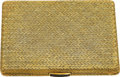 Estate Jewelry:Boxes, Synthetic Sapphire, Gold Case The 18k gold cas...