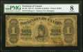 Canada Dominion of Canada, Halifax $1 1.6.1878 Pick 17c DC-8d PMG Very Good 8