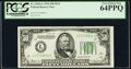 Fr. 2102-L $50 1934 Dark Green Seal Federal Reserve Note. PCGS Very Choice New 64PPQ