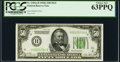 Fr. 2101-H $50 1928A Dark Green Seal Federal Reserve Note. PCGS Choice New 63PPQ