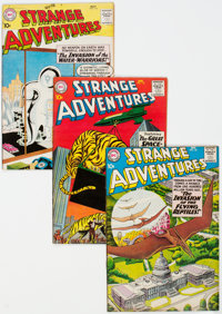 Strange Adventures #115, 116, and 121 Group (DC, 1960-61) Condition: Average VF.... (Total: 3 Comic Books)