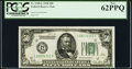 Fr. 2100-L $50 1928 Federal Reserve Note. PCGS New 62PPQ