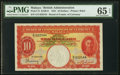 World Currency, Malaya Board of Commissioners of Currency 10 Dollars 1.7.1941 (ND (1945) Pick 13 KNB13 PMG Gem Uncirculated 65 EPQ.. ...