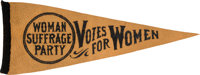 Woman's Suffrage: Rare Votes Pennant