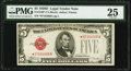 Fr. 1529* $5 1928D Legal Tender Star Note. PMG Very Fine 25