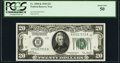 Fr. 2050-K $20 1928 Federal Reserve Note. PCGS About New 50